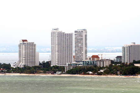 The Bird eye view of Pattaya city, Thailand photo