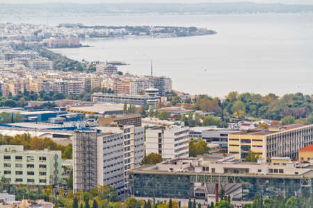thessaloniki: Aerial view of Thessaloniki, Greece