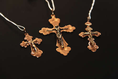 Golden cross photo