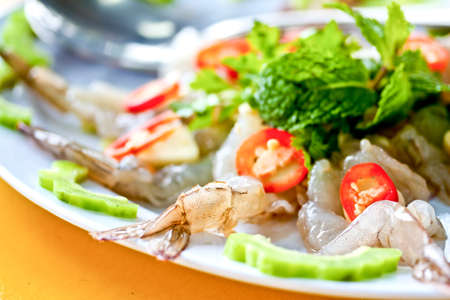 Thai Dishes - Raw Shrimps photo