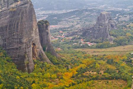 Meteora cliffs and monasteries photo