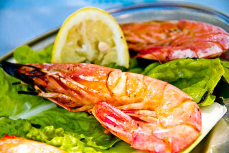 Shrimp grilled photo