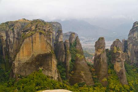 monasteri: Scogliere Meteora e monasteri Archivio Fotografico