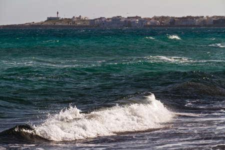 Sea waves on the Mediterranean sea photo