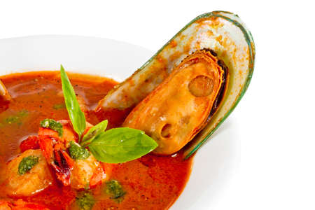 Delicious mediterranean seafood soup Stock Photo - 12453207