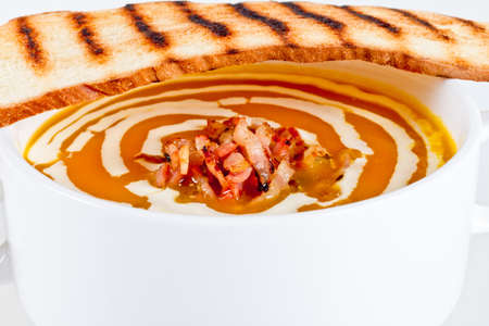 dread: Pumpkin soup with bacon and dread