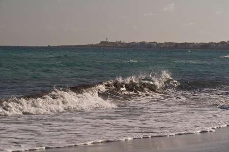 Sea waves on the Mediterranean sea Stock Photo - 12518384