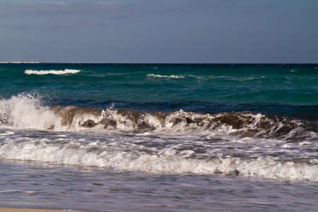 Sea waves on the Mediterranean sea photo