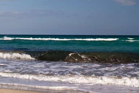 Sea waves on the Mediterranean sea Stock Photo - 12518329