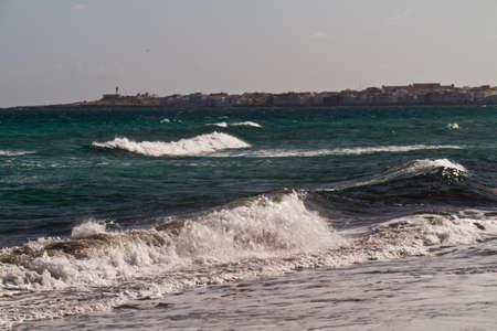 Sea waves on the Mediterranean sea Stock Photo - 12518742