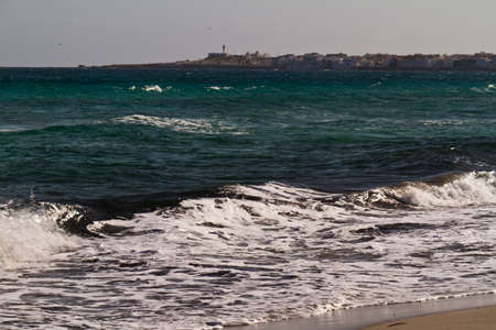 Sea waves on the Mediterranean sea Stock Photo - 12518663