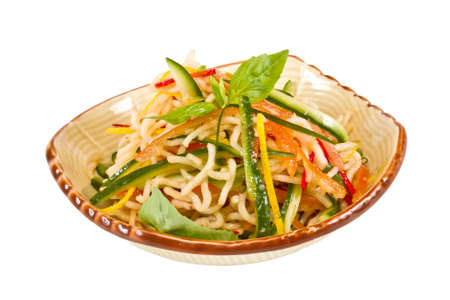 Japan salad with noodles and vegetables Stock Photo - 12516971
