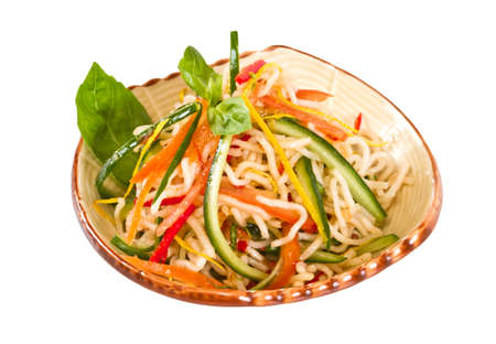 Japan salad with noodles and vegetables Stock Photo - 12517298