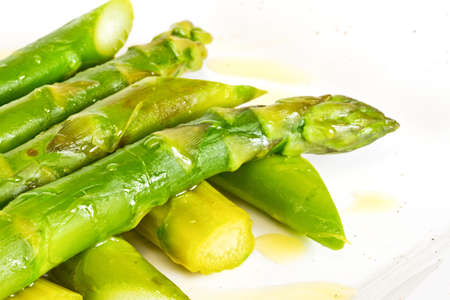 Asparagus on Plate with White Background