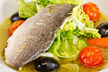 Fish soup with dorado and vegetables