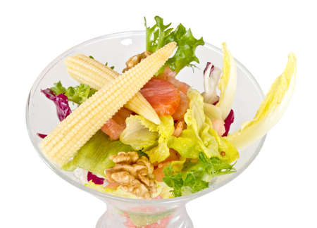 Shrimp cocktail  with corn and salmon Stock Photo - 12519058