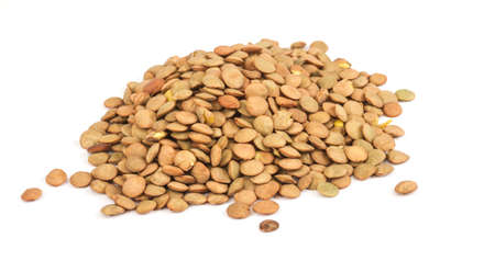 Lentils Isolated on White Background photo