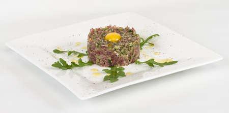 tartare: steak tartare with egg