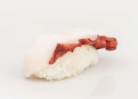 Japanese sushi with meat octopus on a white background Stock Photo - 13126166