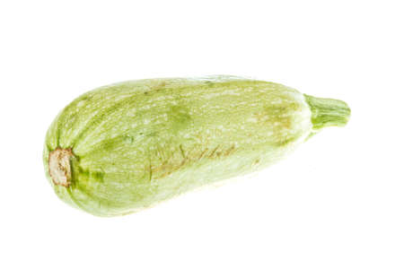 Single Courgette or zucchini from low perspective isolated on white. Stock Photo - 13178116