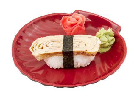 Tamago (Omelet) sushi photo