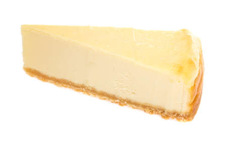 Cheesecake isolated on white background photo