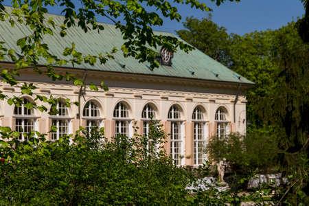 The Lazienki palace in Lazienki Park, Warsaw. Lazienki Krolewskie. Stock Photo - 13715125