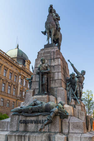 Battle of Grunwald monument In Old Town in Krakow Stock Photo - 13724535