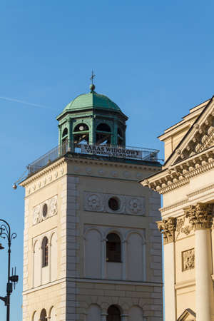 Warsaw, Poland. Saint Anne neoclassical church in Old Town quarter. photo
