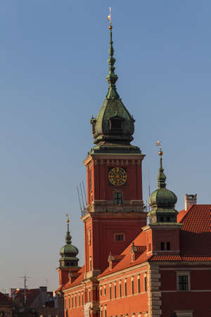 Warsaw, Poland. Old Town - famous Royal Castle.