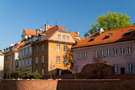 Sights of Poland. Warsaw Old Town with Renaissance Barbican photo