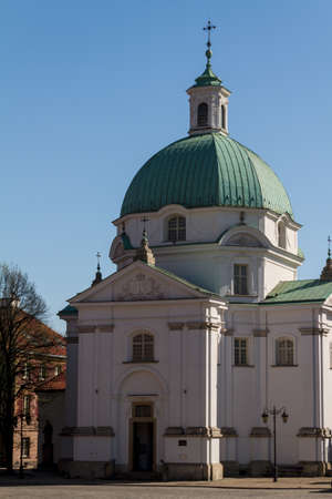 St. Kazimierz Church on New Town Square in Warsaw, Poland Stock Photo - 13817854