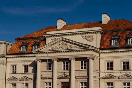 City center of Warsaw, Poland
