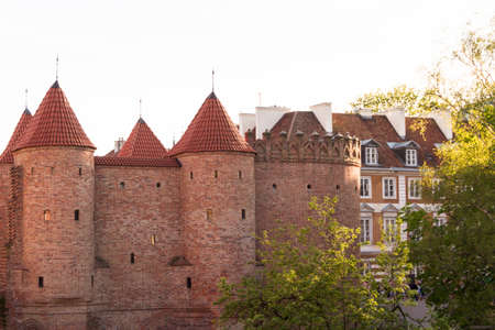 Sights of Poland. Warsaw Old Town with Renaissance Barbican Stock Photo - 13824180