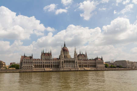 Budapest, the building of the Parliament (Hungary) Stock Photo - 13789318
