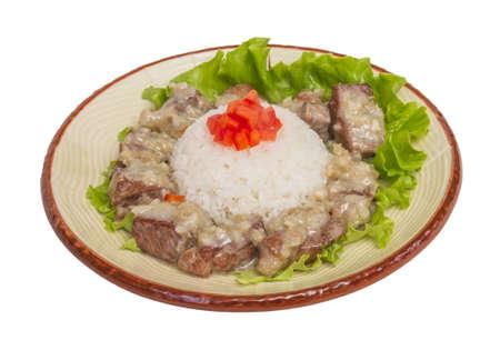 Rice and pork japanese style Stock Photo - 14034650