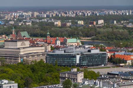Warsaw skyline with warsaw towers