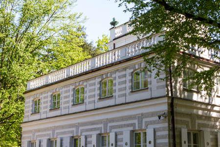The Lazienki palace in Lazienki Park, Warsaw. Lazienki Krolewskie.