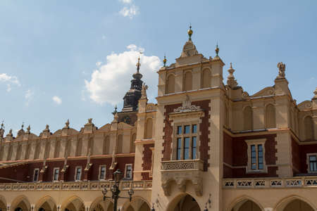 Sukiennice building in Krakow, Poland