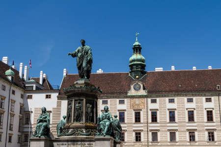 hofburg: Palais imp�rial et le monument. Vienna.Austria. �ditoriale