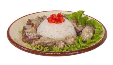 Rice and pork japanese style Stock Photo - 14055891
