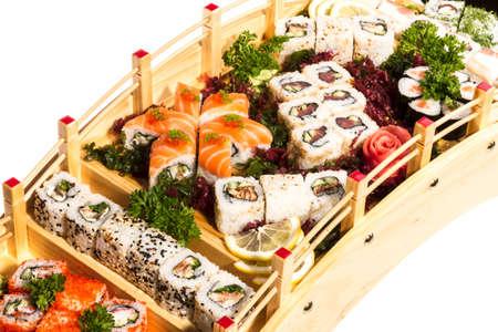 Set of sushi and rolls Stock Photo - 14055899