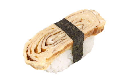 Tamago (tortilla) sushi photo