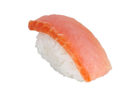 salmon sushi with white background Stock Photo - 14056479