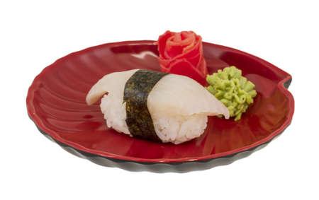 White fish sushi photo