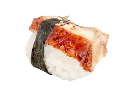 Eel sushi. Isolated over white. Stock Photo - 14056517