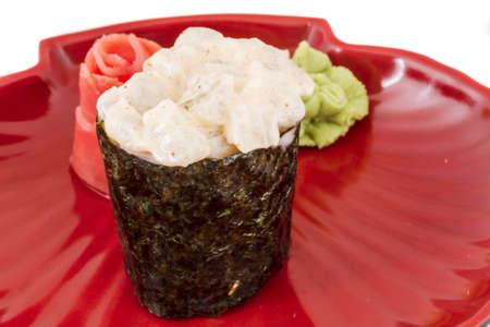 sushi with shrimps photo