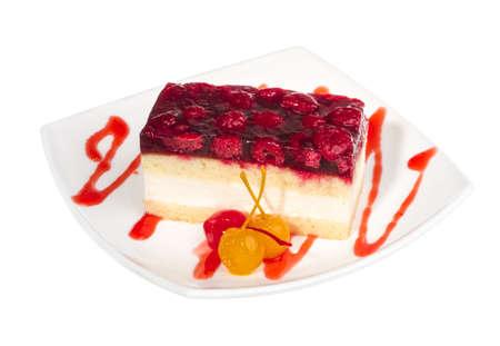 raspberry cake photo