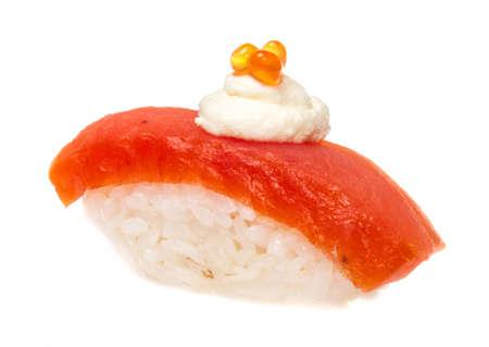 Salmon sushi on a White background Stock Photo - 14069053