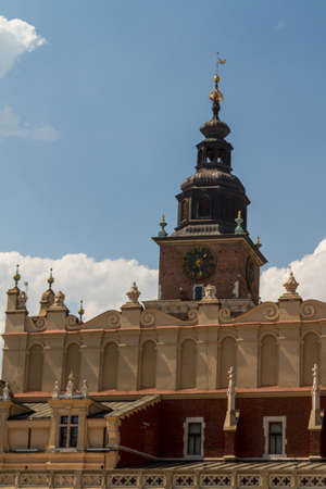 Sukiennice building in Krakow, Poland
